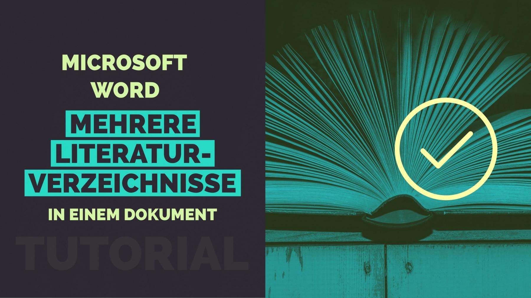 Microsoft Word Mehrere Literaturverzeichnisse Titelbild