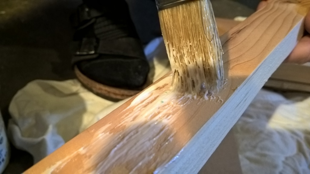 MagicMirror Rahmen Hinten Holzleim