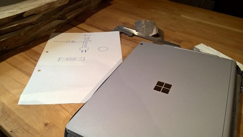 MagicMirror Stromkreis SurfaceBook