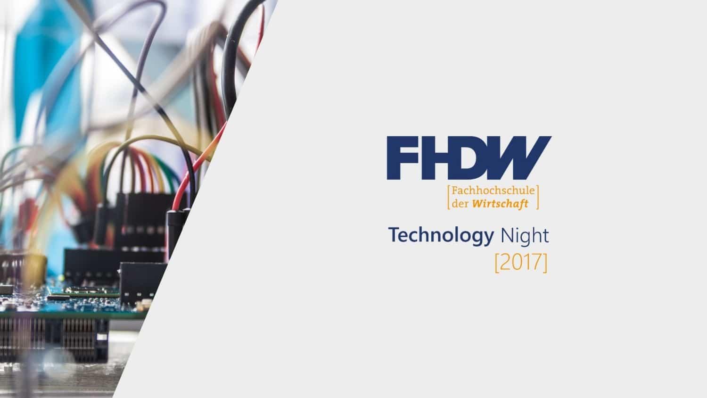 FHDW Technology Night 2017 Titelbild