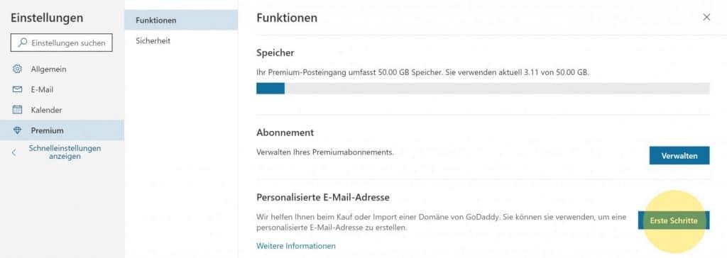 Outlook Domain GoDaddy 1