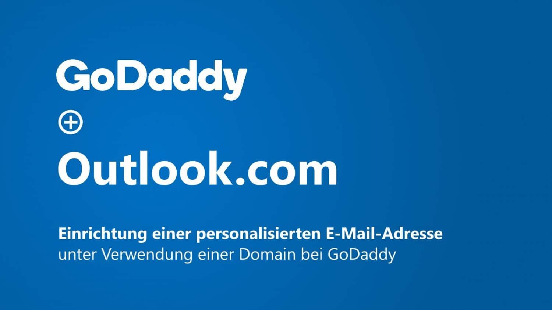Outlook Domain GoDaddy Titelbild
