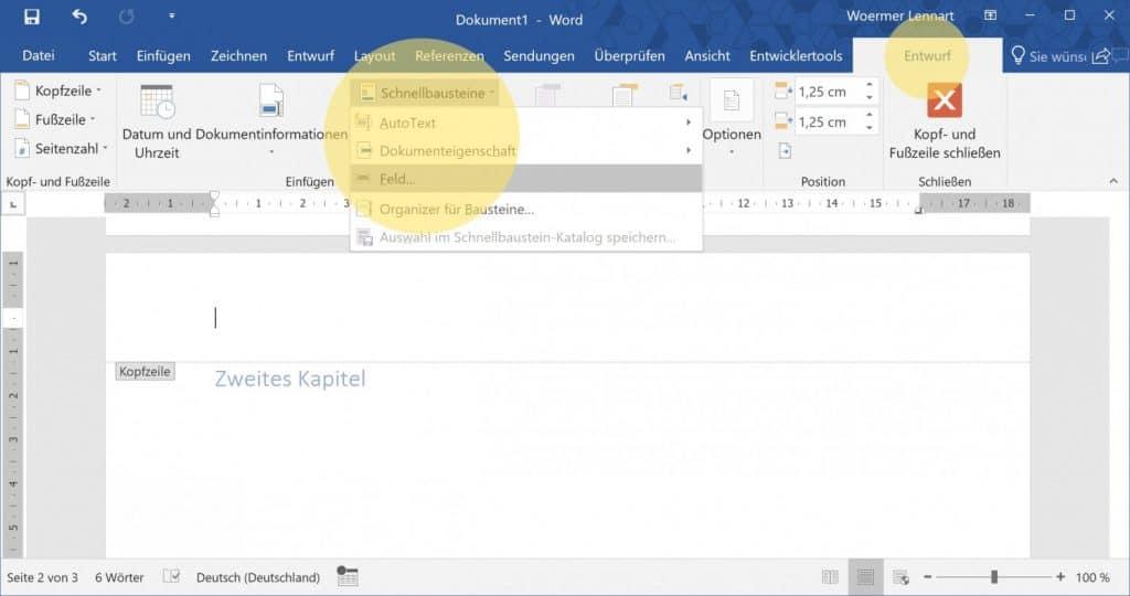 Microsoft Word Aktuelle Ueberschrift auf jeder Seite 2