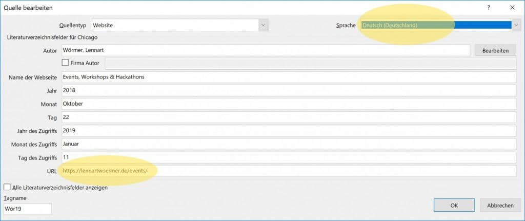 Microsoft Word Mehrere Literaturverzeichnisse 2