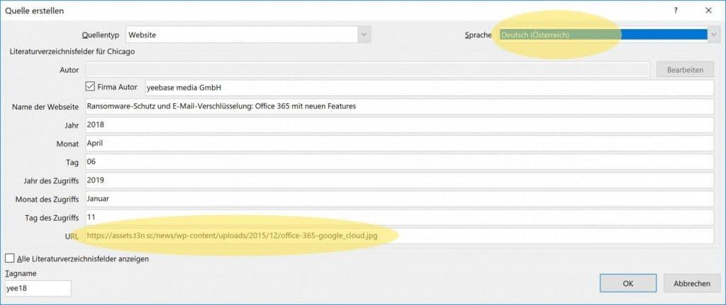 Microsoft Word Mehrere Literaturverzeichnisse 3