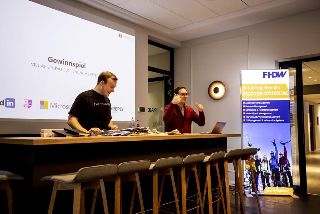 Visual Studio 2019 Launch Event Lennart Woermer Robert Horrion Gewinnspiel 02