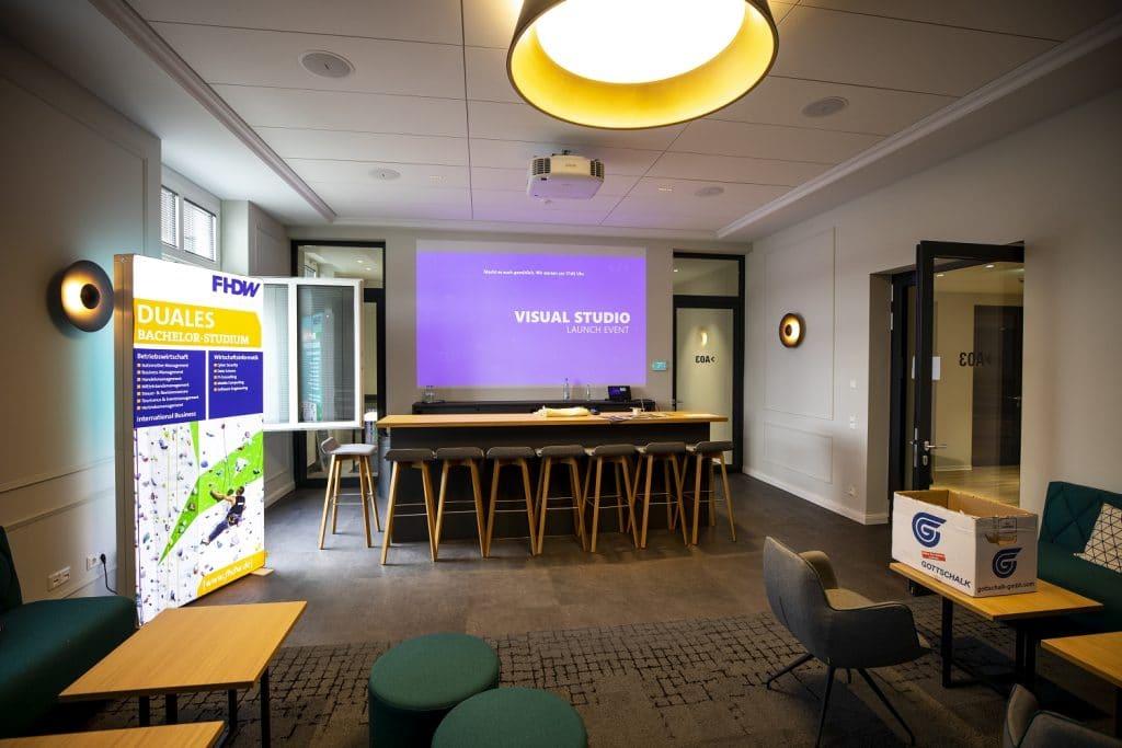 Visual Studio 2019 Launch Event Lounge