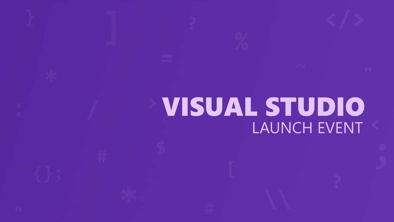 Visual Studio 2019 Launch Event Titelbild