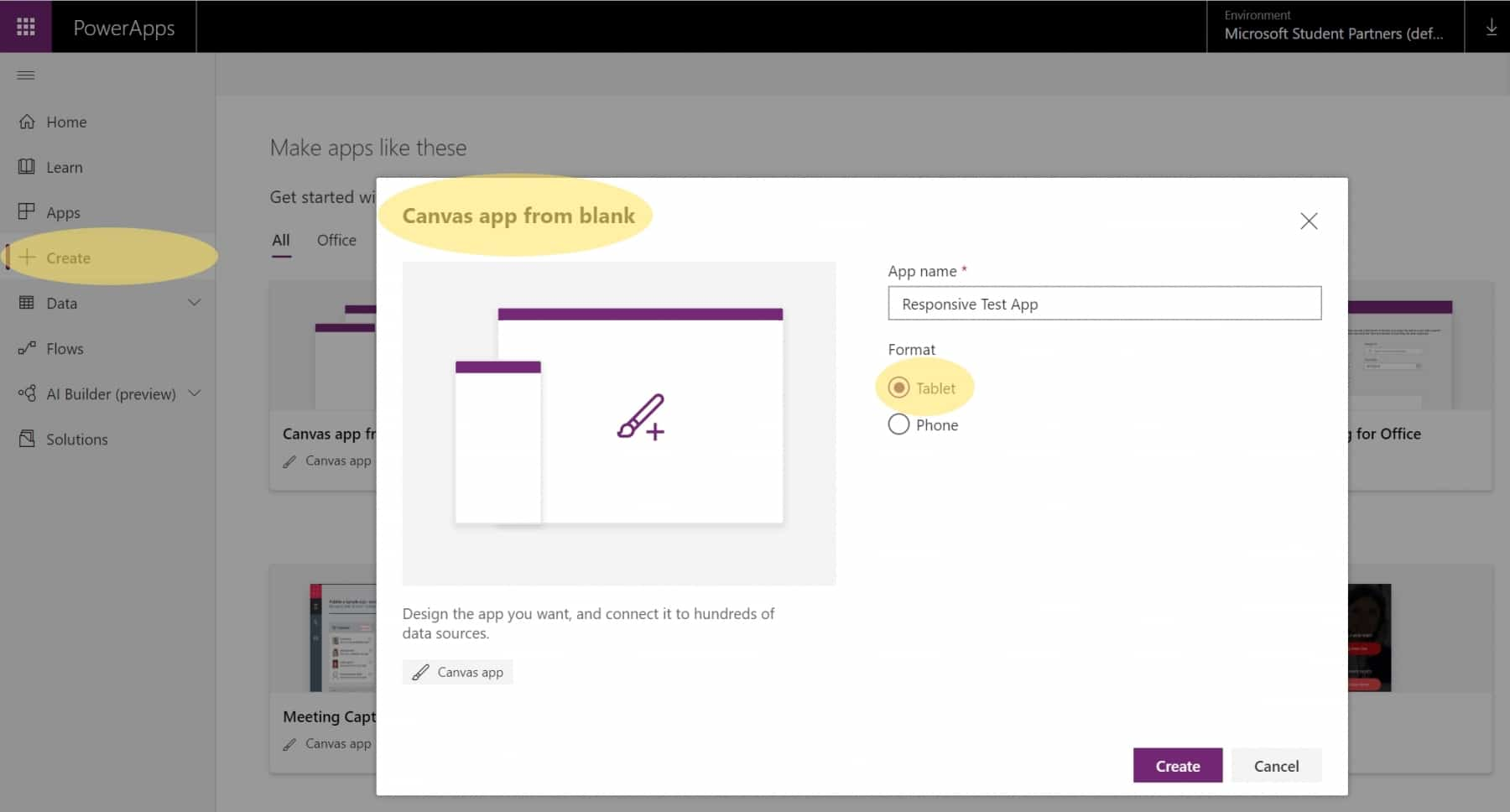 How To Building Really Responsive Microsoft PowerApps 1 Create Canvas App