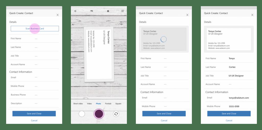 Microsoft Dynamics 365 Business Card Scanner Oktober 2019 Update Funktionen