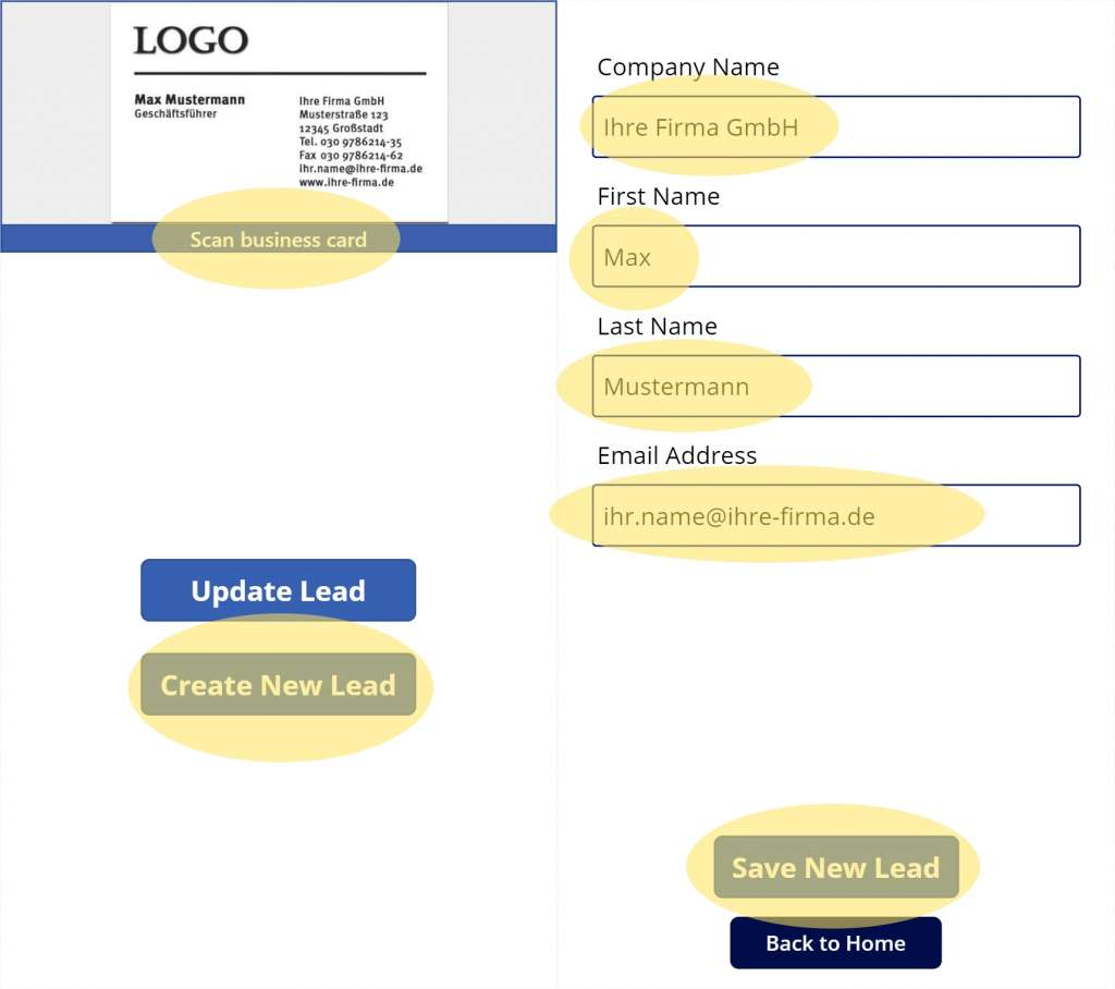 Dynamics 365 Generating Leads Business Card Reader PowerApps 11 Test PowerApps