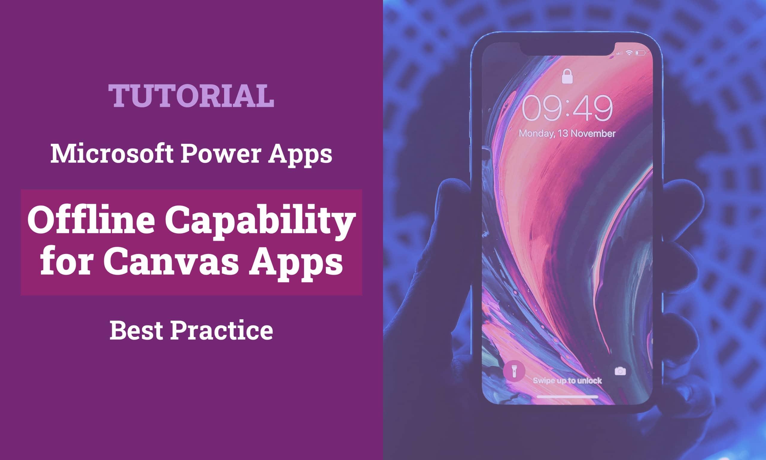 Power Apps Canvas Apps Offline Capability Titelbild scaled