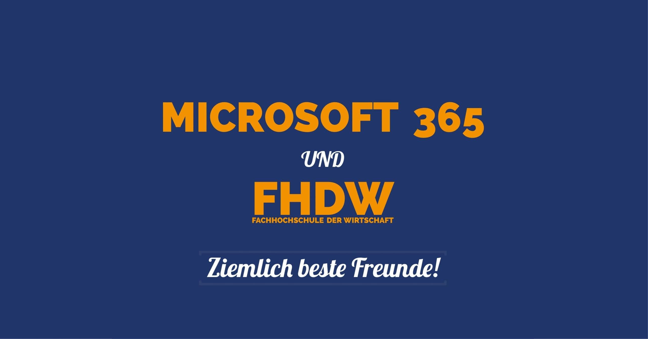 FHDW Microsoft365 Ziemlich Beste Freunde Titelbild scaled