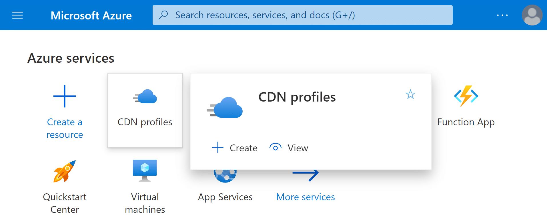 Azure CDN WordPress Configuration Azure Portal Login
