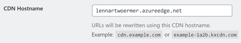 Azure CDN WordPress Configuration CDN Enabler